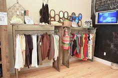 door clothing racks