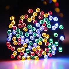 AOTOSOLO Solar Christmas LED Light Strip, 39ft/12m 100LED Fairy Decking Lights for Indoor and Outdoor Home, Lawn, Garden, Party, and Holiday Festival Decoration (Multi) >> Insider's special review you can't miss. Read more  : Garden Christmas Decorations