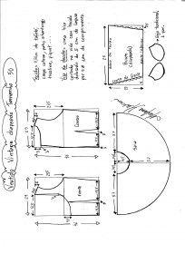 Vestido de Festa Vintage – Marlene Mukai T Shirt Sewing Pattern, Shirt Dress Pattern, Easy Sewing Patterns, Pattern Drafting, Sewing Tutorials, Clothing Patterns, Fashion Sewing, Diy Fashion, Vintage Diy
