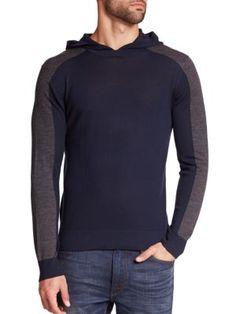MICHAEL KORS Merino Wool Hoodie. #michaelkors #cloth #hoodie