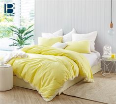 Shop for Endless Fields Embroidered Duvet Cover - Limelight Yellow. Get free delivery On EVERYTHING* Overstock - Your Online Fashion Bedding Store! Yellow Comforter, Bed Linen Design, Duvet Bedding, Comforter Sets, Linen Duvet, Bed Duvet Covers, Yellow Duvet Covers, Luxury Bedding Sets, Home Decor Bedroom
