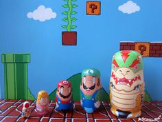 Pin for Later: These Pop-Culture Nesting Dolls Are So Freakin' Rad The Super Mario team has never looked better! Diy Projects To Try, Art Projects, Otaku, Nerd Room, Nintendo, Mario And Luigi, Mario Bros, Matryoshka Doll, Doll Parts