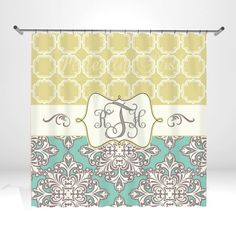 Personalized Shower Curtain by ItsPerfectlyPosh on Etsy, $68.00