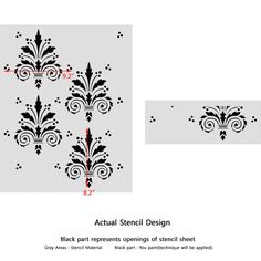 Wall Damask Allover Stencil Terri for by JboutiqueStencils on Etsy