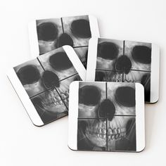 'xray skull' Coasters by Sunglasses Case, Coasters, My Arts, Skull, Art Prints, Printed, Awesome, Shop, Stuff To Buy