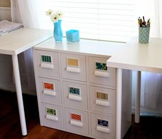 Ikea Sprutt cabinet mod with legs gone and new labels