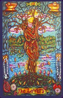 The Lovers...Pearls Of Wisdom Tarot by Caeli Fullbrite & Roxi Sim