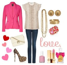 Fabulous Valentines Day outfit #pink