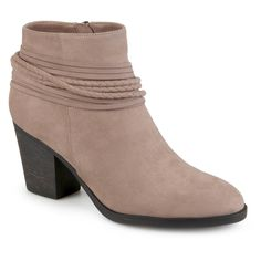 1ff008951ea5 Women s Journee Collection Ceres Strappy High Heeled Booties   Target Brown  Ankle Boots