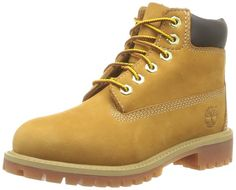 Timberland Premium Waterproof Boot (Toddler/Little Kid/Big Kid),Wheat M US Little Kid Moisture-wicking lining EVA footbed Padded collar Rustproof hardware Non-marking rubber outsole Timberland Classic, Timberland 6 Inch, Timberland Boots, Girl Timberlands, Toddler Boots, Kids Boots, Boys Hiking Boots, Rain And Snow Boots, Boots