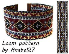 Loom bead pattern - Square stitch pattern -  ethnic style - bracelet pattern  - beaded pattern #71