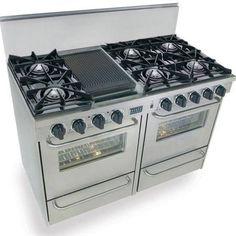 dual oven range gas - Google Search
