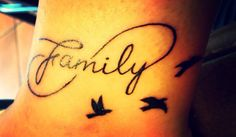 Family tattoo, I like this one, but not the birds