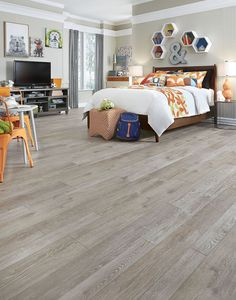 Mannington - Adura Max Apex - Hudson - cobblestone - Waterproof Multilayer Flooring - Save at American Carpet Wholesale - Basement Flooring, Waterproof Flooring, Hardwood Design, Wood Vinyl, Waterproof Laminate Flooring, Mannington Adura, Vinyl Plank, Basement Flooring Options, Vinyl Flooring