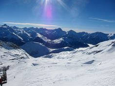 Snowboard in The Alps