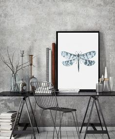 Insects Butterfly Wall Art Print butterfly by PrintsMiuusStudio