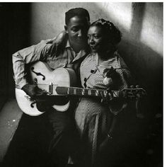An incredible shot of #Blues #Music great  #MuddyWaters and his wife, Geneva. Any ideas who took this picture?