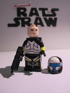 Lego Star Wars minifigures - Clone Custom Commando Scorch