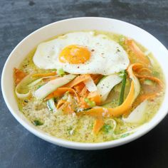 Carrots Zucchini Egg Drop Soup In thisCarrots Zucchini Egg Drop Soup, bone broth has been used as a base for the soup. If you make or buy bone broth in bulk and have it on a regular basis, this recipe can be one tasty and easy way to use, enjoy and heal with your bone...Read More »
