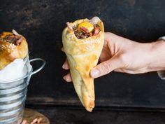 Deftig lecker: Cheeseburger Hörnchen mit Bacon
