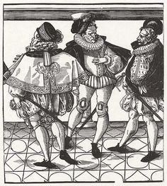 Stimmer, Tobias: Die weltliche Hierarchie (The worldly hierarchy), Drei Grafen (3 Counts)