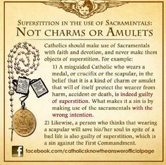 Very true. We must always keep our baptismal promises and walk in the light if Christ. Let our: Rosary,scapular, crucifix, etc, serve as a reminder to keep them.   Do not believe that you can wear them and live for yourself. These work only when you believe and continue to contend for your crown in heaven..