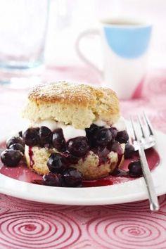 Blueberry Cassis Shortcakes