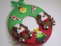 Guirlanda de Natal Cachorrinhos