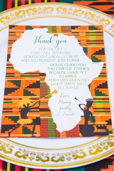 African WelcomeCard/Thank You Card/Kinte Cloth/Tribal Print/Safari/Jungle/Zoo/ Welcome Card/ Invitation African Party Theme, African Wedding Theme, Brunch Invitations, Shower Invitations, Invitation Cards, Wedding Invitation, Traditional Wedding Decor, African Traditional Wedding, Baby Shower Themes