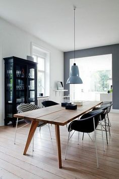 77 Gorgeous Examples of Scandinavian Interior Design Grey-Scandinavian-dining-room