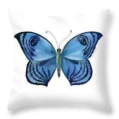 "75 Capanea Butterfly Throw Pillow 14"" x 14"""