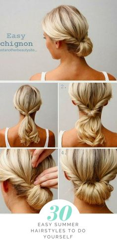 From classic to cute: hairstyle ideas for .- Von klassisch bis niedlich: Frisur Ideen für lange Haare – Chig… From classic to cute: hairstyle ideas for long hair – chignon Classic and sweet hairstyle ideas for long hair - Summer Hairstyles, Braided Hairstyles, Cool Hairstyles, Beautiful Hairstyles, Wedding Hairstyles, Simple Hairstyles For Long Hair, Easy Updos For Medium Hair, Everyday Hairstyles, Chignon Hairstyle