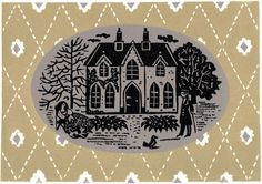 Christopher Brown - Home - Victorian - linocut