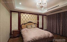 Dark European style bedroom decoration 2015