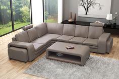 Couchgarnitur Sofa Polsterecke Couch SOFT mit Tisch Ecksofa Wohnlandschaft