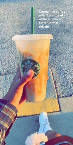 Honestly so amazing, it's my new favorite thing to get 😍🥵 Starbucks Hacks, Healthy Starbucks Drinks, Starbucks Secret Menu Drinks, Starbucks Coffee, Yummy Drinks, Healthy Drinks, Find Starbucks, Starbucks Order, Starbucks Flavors