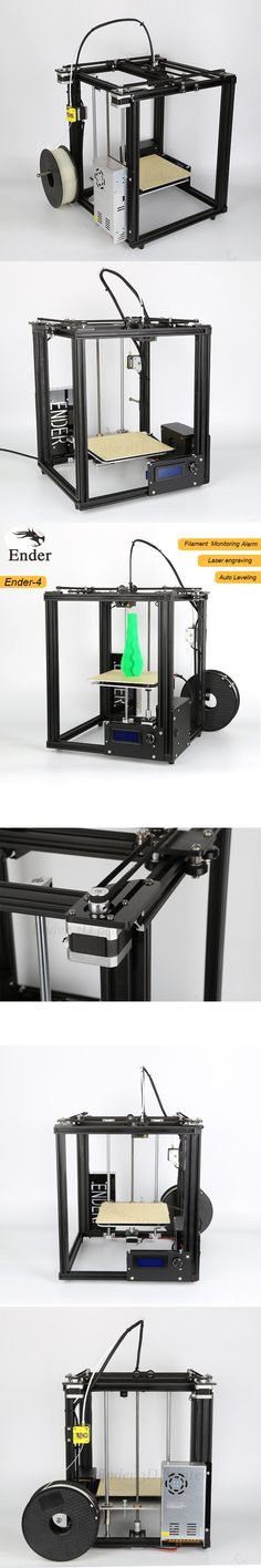 2017 3D printer Ender-4 with Laser/Auto Leveling/Filament Monitoring Alarm protection Large Size 220*220*300mm Printer 3D KIT