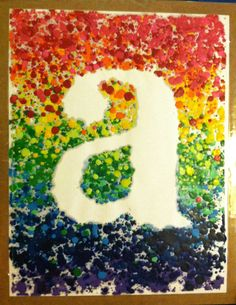 "Melted Crayon Art -- Typography Lettering Chromatic Design -- 8.5""x11"" on Etsy, $25.00"