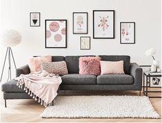 a3a1c176d Decoração rosa e cinza está super em alta. 😍 Que tal combinar os quadros  com