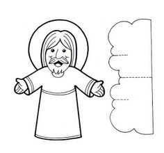 Easy craft for the bible story about Jesus ascending into