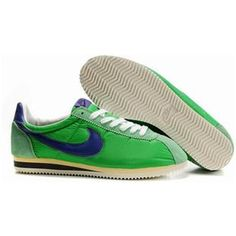 Blue Shoes Women Nike Cortez Oxford Cloth Green