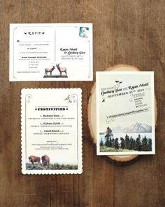 rocky mountain wedding invitation - Google Search