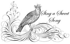 Image of the day!  Sing a Sweet Song...a beautiful Crowned Bird just for you!  Create a tote bag...tea towel...t-shirt...print it and frame it and the list goes on!  Most of all...ENJOY and CREATE!!! Come on over to TheCottageMarket.com and save as! : )