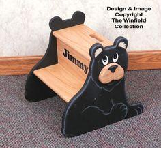 Black Bear Krok Stolec Wood Pattern