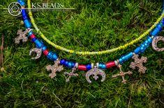 Naszyjniki historyczne : Kram Stjepana Glass Beads, Medieval, Charmed, Bracelets, Jewelry, Jewlery, Jewerly, Schmuck, Mid Century