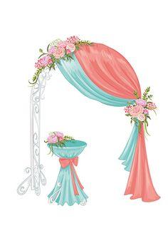 свадебное оформление цветами и тканями арки для церемоний