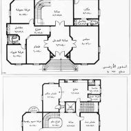 خرائط منازل دورين Model House Plan, House Plans, House Map, Model Homes, Floor Plans, How To Plan, House Floor Plans, Floor Plan Drawing, Home Plans