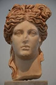 Marble head of a goddess, found in the Hadrianic Baths, century AD, Aphrodisias Museum Ancient Greek City, Ancient Rome, Ancient Greece, Ancient Art, Ancient History, Roman History, Art History, Fall Of Constantinople, Turkey History