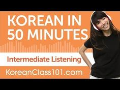 50 Minutes of Intermediate Korean Listening Comprehension - YouTube