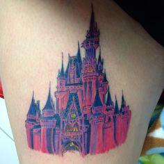 #nofilter #tattoo #disneytattoo #cinderella #cinderellascastle #wdw #disneyworld #disneyworldtattoo #wdwtattoo #castle #castletattoo #me #ouch #badass #phase2